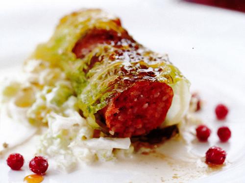 bild av Isterbandsolmar  med savoykål & fänkåls-coleslaw