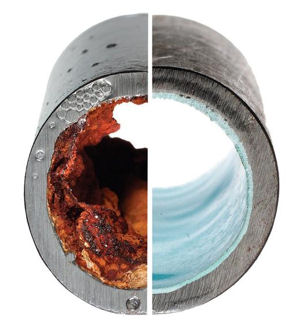 Oxideringar av järn och mangan i vattenrör