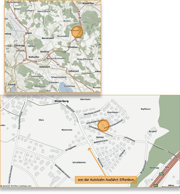 Foto: Karte Hinterbrunnenstrasse 1, Winterberg.